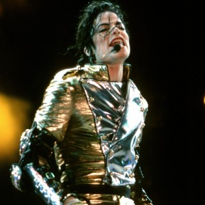 MUNICH, GERMANY - JULY 4: Michael Jackson performs on stage on HIStory World Tour at the Olympic Stadium on July 4th 1997 in Munich, Germany. (Photo by Bernd Muller/Redferns)